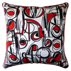 Vintage Cushions, Luxury Bespoke Made Pillow, Lucienne Circles, Made in London