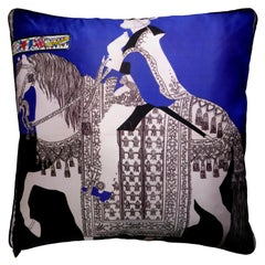 'Vintage Cushions', Luxury Bespoke-Made Pillow 'Medieval Pageant' British Made