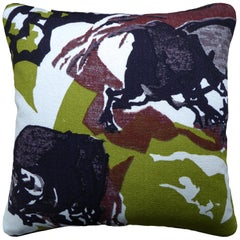Vintage Cushions, Luxury Bespoke-Made Pillow 'Midcentury', Made in London