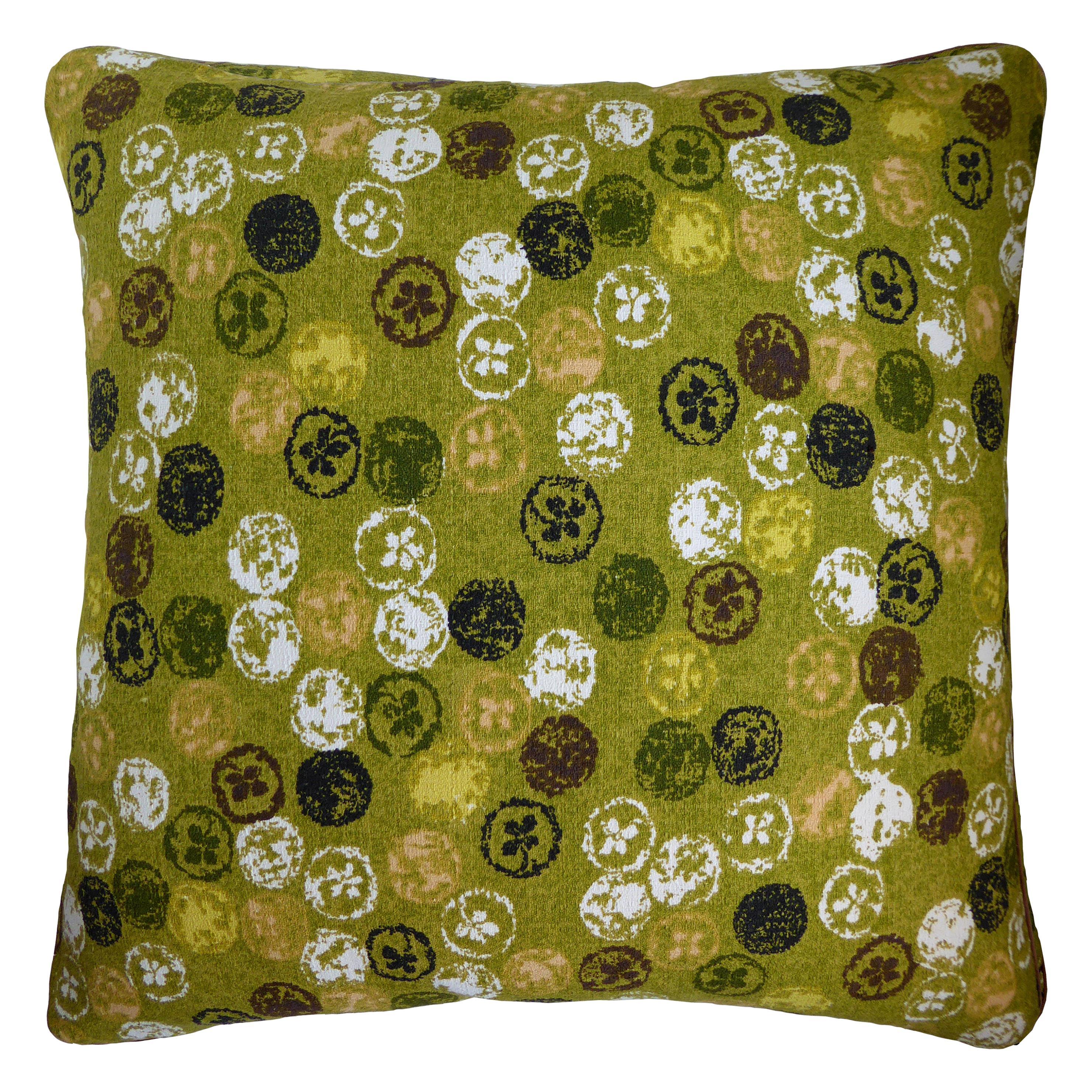 Vintage Cushions Luxury Bespoke Made Pillow 'Monoprinty Lemons' Made in London