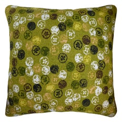 Vintage Cushions Luxury Bespoke Made Pillow 'Monoprinty Lemons' Made in London