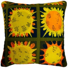 Vintage Cushions, Luxury Bespoke-Made Pillow 'Paintball', Made in London