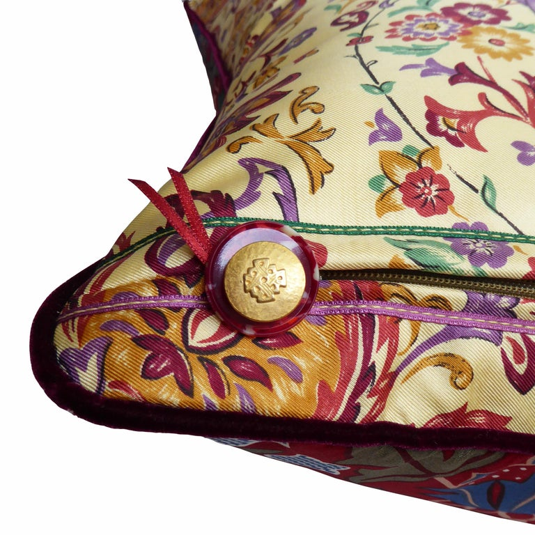 British 'Vintage Cushions' Luxury Bespoke-Made Pillow 'Past Times', Made in London For Sale