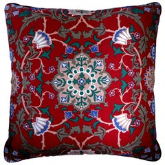 'Vintage Cushions' Luxury Bespoke-Made Pillow 'Past Times', Made in London