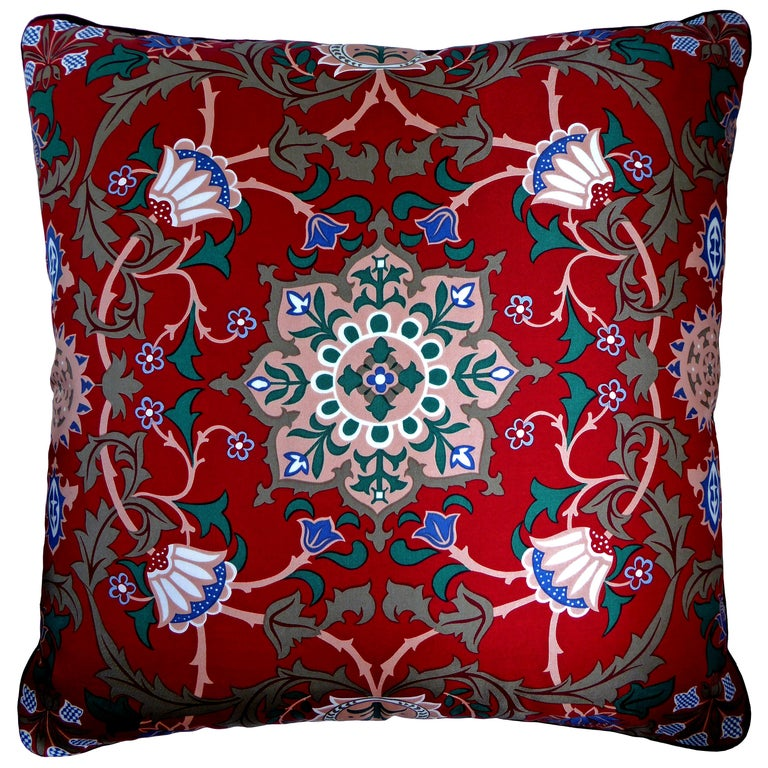 'Vintage Cushions' Luxury Bespoke-Made Pillow 'Past Times', Made in London For Sale