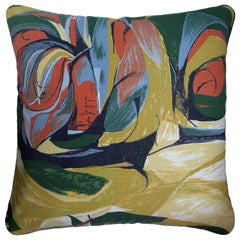 Vintage Cushions, Luxury Bespoke Made Pillow 'Sweet Corn', Made in London
