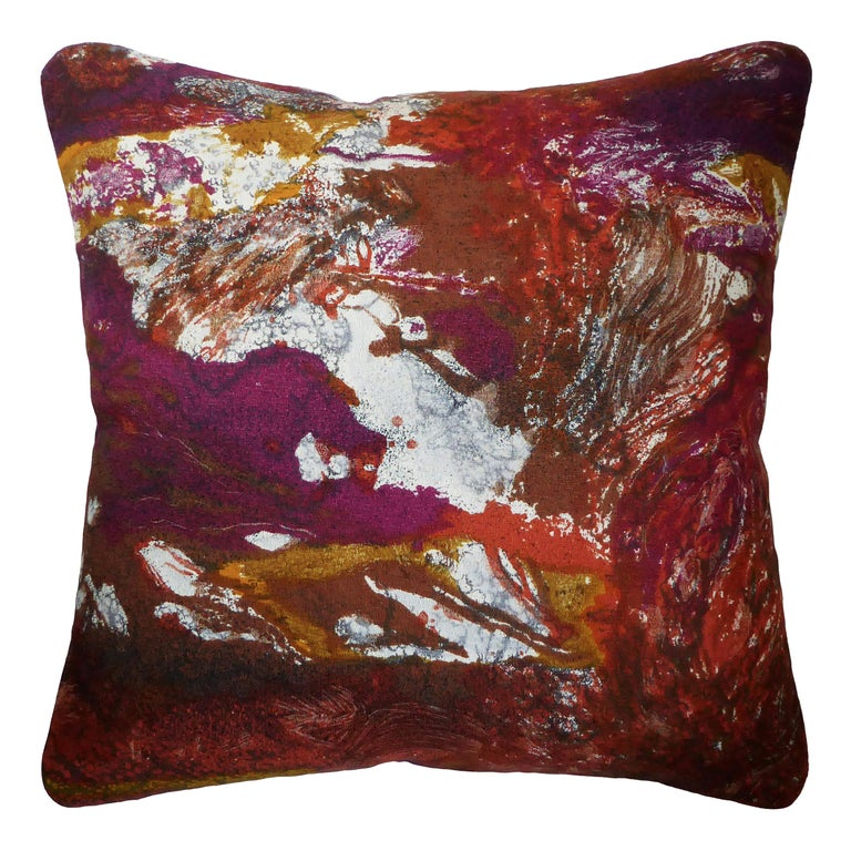 'Vintage Cushions' Luxury Bespoke-Made Pillow 'Tapa', Made in London For Sale