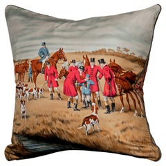 'Vintage Cushions' Luxury Bespoke-Made Pillow 'The Foxes Tail', Made in London