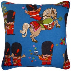 'Vintage Cushions' Luxury Bespoke-Made Pillow 'Toy Soldiers', Made in London