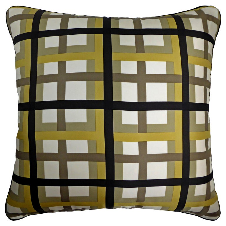 Vintage Cushions, Luxury Bespoke-made Silk Pillow Basley-Dyer, Made in London For Sale