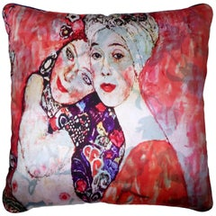 Vintage Cushions, Luxury Bespoke Made Silk Pillow, The Friends, Made in London