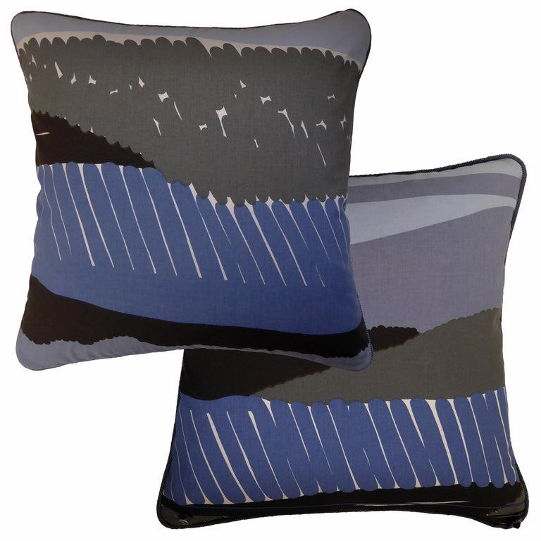 Swedish 'Vintage Cushions' Luxury Bespoke Midcentury Pillow 'Verner', Made in London For Sale