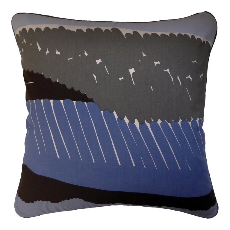 'Vintage Cushions' Luxury Bespoke Midcentury Pillow 'Verner', Made in London For Sale