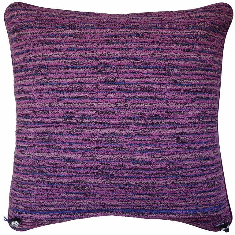 English 'Vintage Cushions' Luxury Bespoke Pillow 'Buckingham Pink & Blue' Made in London For Sale