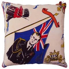 'Vintage Cushions' Luxury Bespoke Pillow 'Duke of Edinburgh 1953', Made in UK