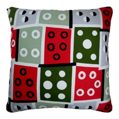 'Vintage Cushions' Luxury Bespoke Pillow 'Mod_Circles', Made in London