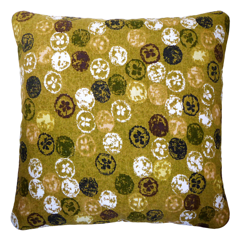 'Vintage Cushions' Luxury Bespoke Pillow 'Monoprinty Lemons' Made in London