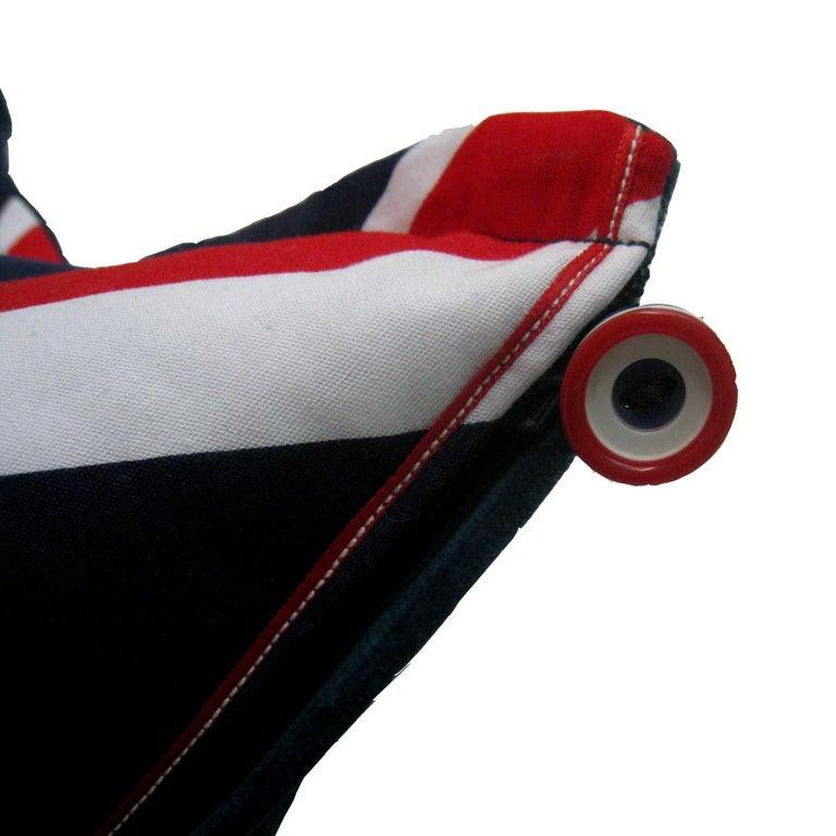 British 'Vintage Cushions' Luxury Bespoke Pillow 'Velvet Flag-let', Made in UK For Sale