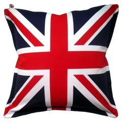 'Vintage Cushions' Luxury Bespoke Pillow 'Velvet Flag-let', Made in UK