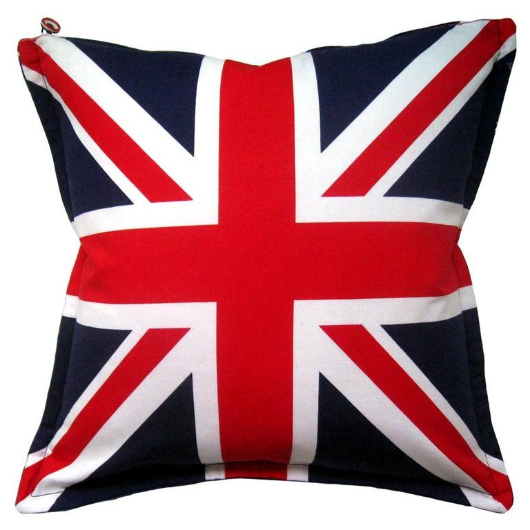 'Vintage Cushions' Luxury Bespoke Pillow 'Velvet Flag-let', Made in UK For Sale