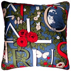 'Vintage Cushions' Luxury Bespoke Silk Pillow 'National Trust', Made in London