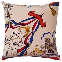 'Vintage Cushions' Luxury Bespoke Silk Pillow 'Princess Anne', Made in UK