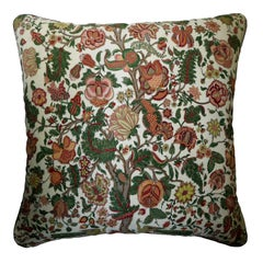 'Vintage Cushions' Luxury Bespoke Silk Pillow 'Tree of Life' Made in London