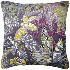 Vintage Cushions, Luxury Silk Bespoke Made Pillow 'Anika', Made in London