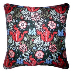 'Vintage Cushions' Luxury Silk Bespoke-Made Pillow 'Compton', Made in London