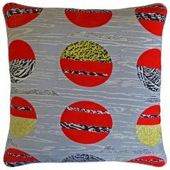 'Vintage Cushions' Luxury Silk Bespoke-Made Pillow 'Globe', Made in London