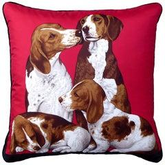 Vintage Cushions, Luxury Silk Bespoke Made Pillow 'Mallards', Made in England