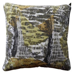 Vintage Cushions, Luxury Silk Bespoke Made Pillow 'Name', Made in London