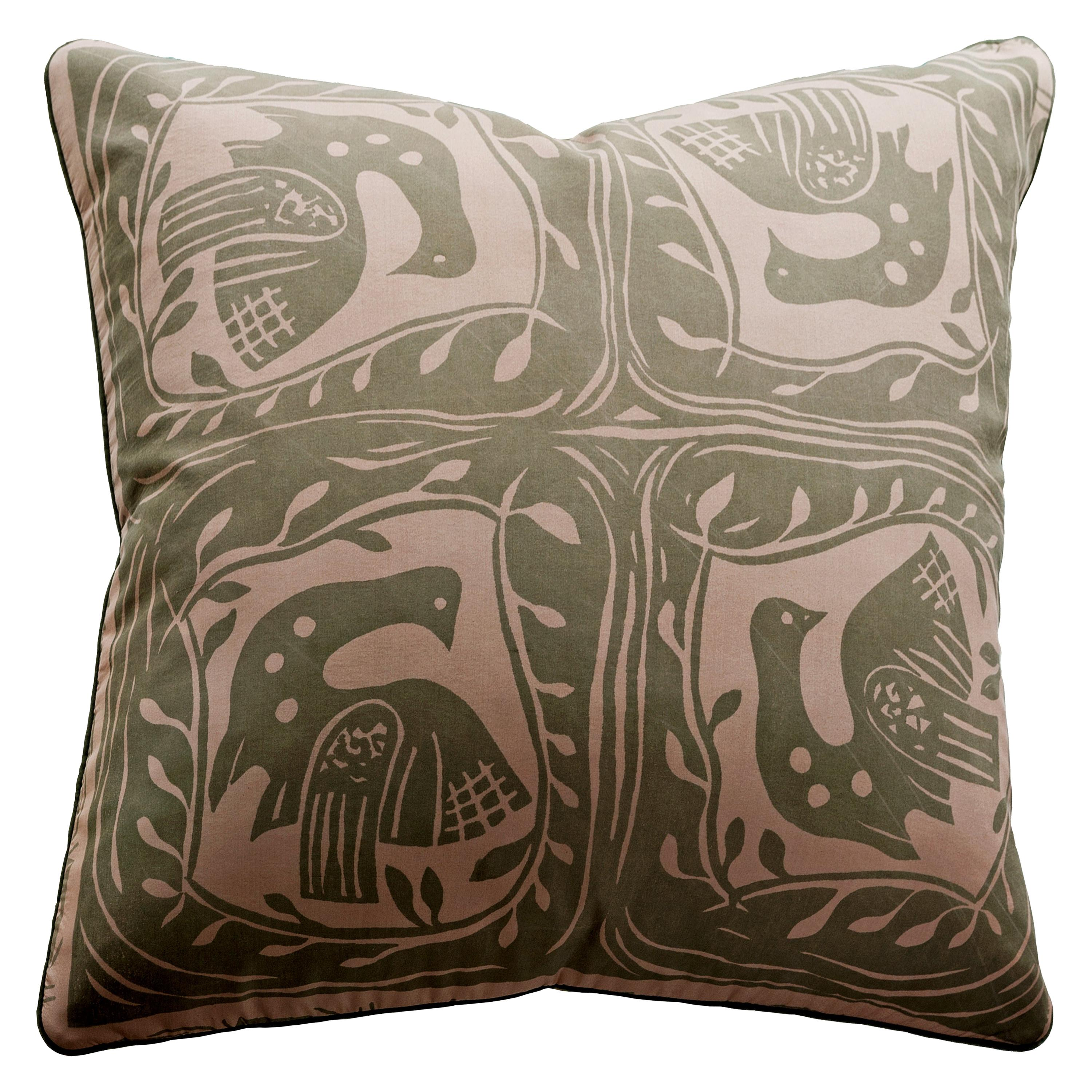 Vintage Cushions, Luxury Silk Bespoke Pillow 'Dove of Peace', Made in London