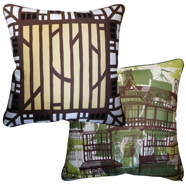 Arts and Crafts 'Vintage Cushions' Luxury Silk Bespoke Pillow 'Liberty of London' Made in London