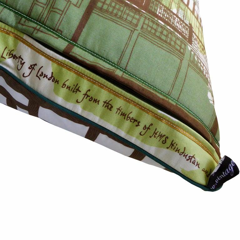 English 'Vintage Cushions' Luxury Silk Bespoke Pillow 'Liberty of London' Made in London