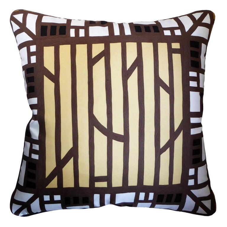 'Vintage Cushions' Luxury Silk Bespoke Pillow 'Liberty of London' Made in London