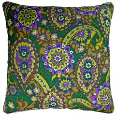 Vintage Cushions 'Mansfield Daisy' Bespoke Made Silk Pillow/Cushion, Made in UK