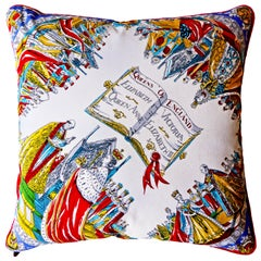 Vintage Cushions, 'The Queens of England' Bespoke-Made Pillow, Made in UK