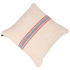 Vintage Cushions, Vintage French Burlap Luxury Bespoke Cushion, Made in London