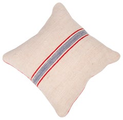 Vintage Cushions. Vintage French Burlap Luxury Bespoke Cushion, Made in London