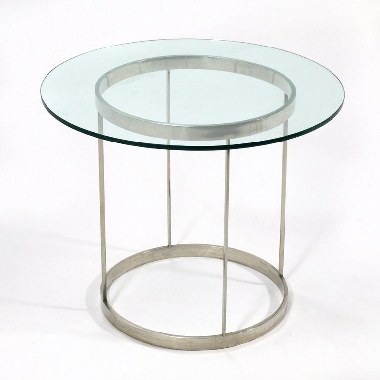 We love this exceptional table. We love the simplicity and honesty of the materials, we love the expert craftsmanship, and most of all we love the elegant, Minimalist design. It was fabricated by Metalworks as part of a custom commission suite of