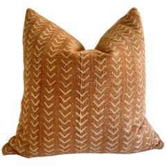 Vintage Custom Mali Mudcloth Pillow with Down Insert