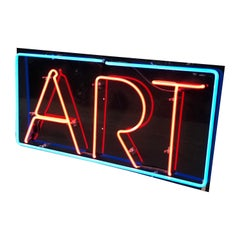 "Vintage Custom Neon ""Art"" Sign"
