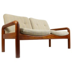 Vintage D-Scan Solid Teak Danish Modern Sofa Loveseat Couch