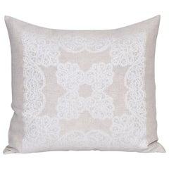 Vintage Damask Traditional Celtic Lacework Patterned Irish Linen Cushion Pillow