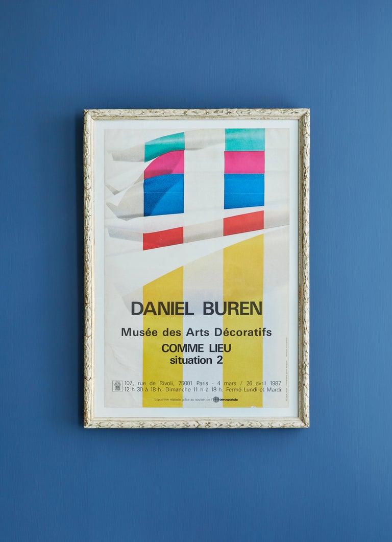Daniel Buren, France, 1987   Rare poster made on the occasion of Daniel Buren's exhibition