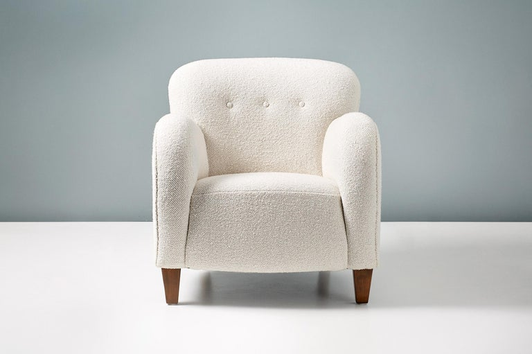 Danish cabinetmaker lounge chair, circa 1950s.