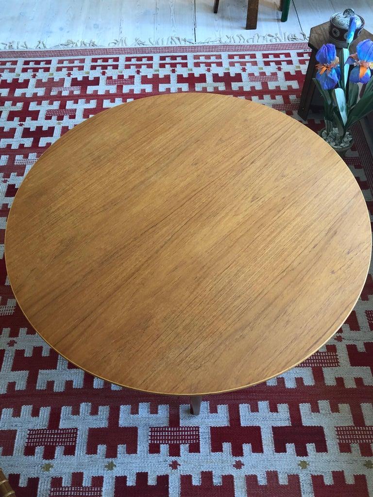 Vintage Danish 1950s Peter Hvidt & Orla Moelgaard Coffee Table in Beech and Teak For Sale 2