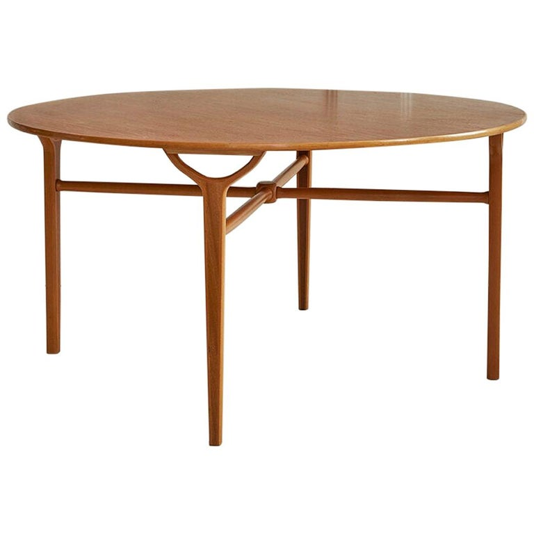 Vintage Danish 1950s Peter Hvidt & Orla Moelgaard Coffee Table in Beech and Teak For Sale