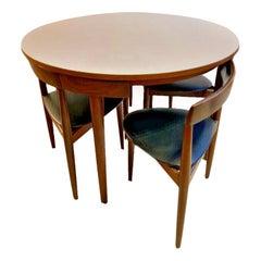 Vintage Danish 4 Chair Dining Set 'Roundette' Hans Olsen for Frem Røjle
